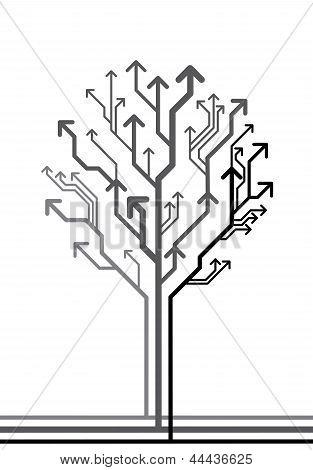 Vector tree made of arrows