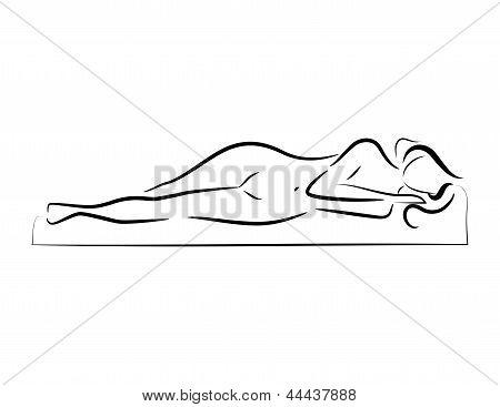 Vector sleeping woman