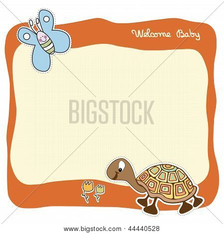 baby announcement card, illustration in vector format poster