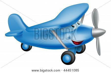 Cute Airplane Cartoon Character
