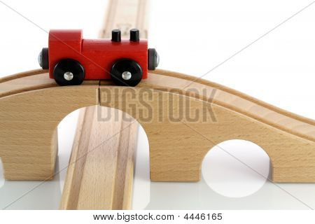 Red Wooden Toy Train