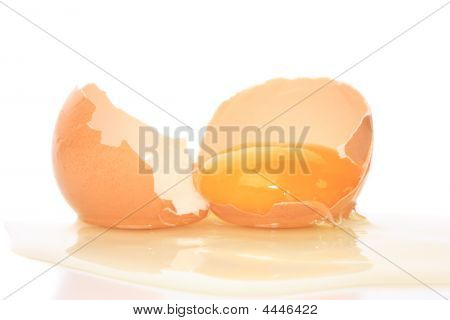 Cracked Egg With Yolk