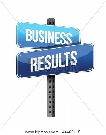 Business Results Sign