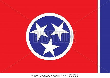 Flag of the American State of Tennessee