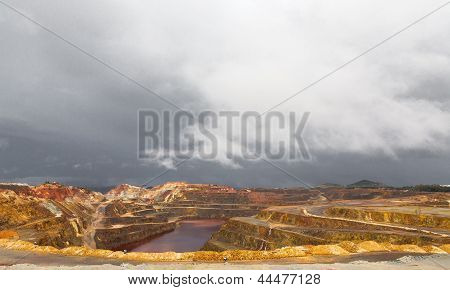 Rio Tinto mine and storm