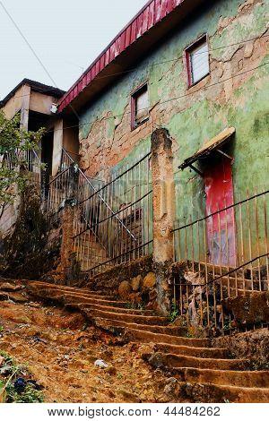 Old Houses In Poor Tropical Neighborhood
