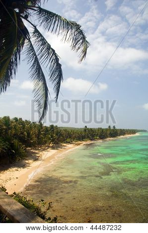 undeveloped Iguana Beach Little Corn Island Nicaragua Central America on Caribbean Sea poster