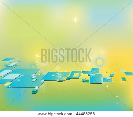 Clip Art Abstract Background With Squares