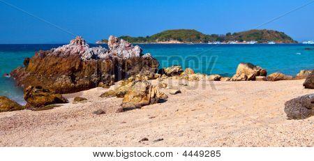 Rock Beach Ko Larn Pattaya Thailand Asia poster