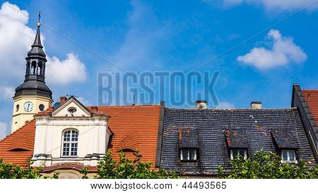 Roofs of the tenements