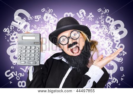 Businessman With Finance Growth And Credit Surplus