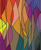 Multicolored Stained Glass Window Pattern, Vector Illustration poster