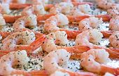 Cooked Shrimp with olive oil and herbs poster