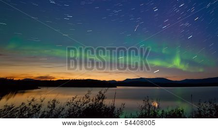 Shooting Star Meteor Aurora Borealis Northern Lights