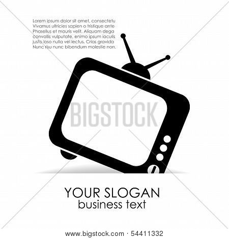 Television vector poster