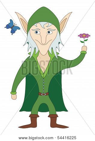 Elf with flower