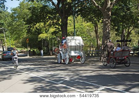 Traffic At Central Park (new York City, Usa)