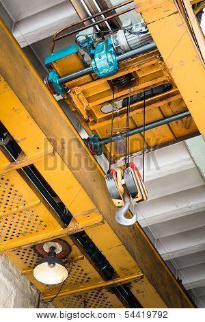 old industrial crane