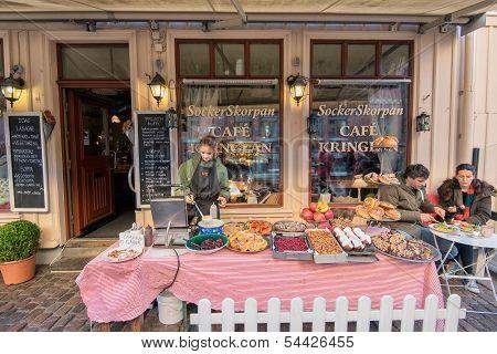 Swedish coffee shop in November