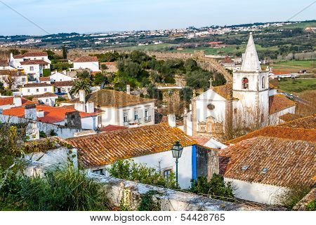 Overview of Obidos - Portugal