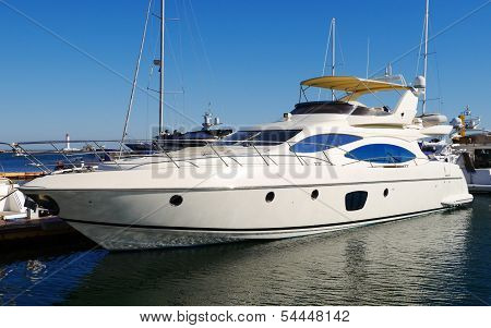 A Luxury Yacht At The Yacht Club