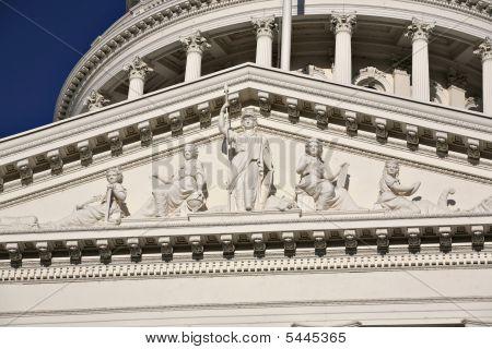 Minerva Statue At California Capitol Building