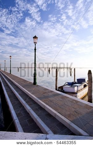 Lakefront Walk In Burano Venice Diagonal Lines