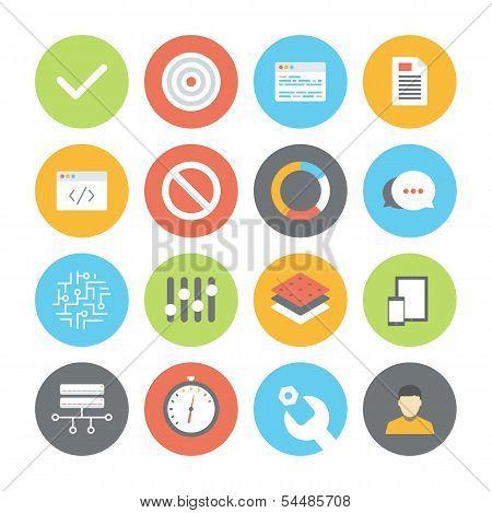 Web And Ui Flat Icons Set