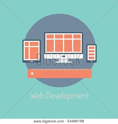 Web Development Illustration Concept