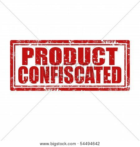 Product Confiscated-stamp
