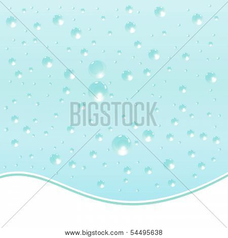 Water Droplets Background.