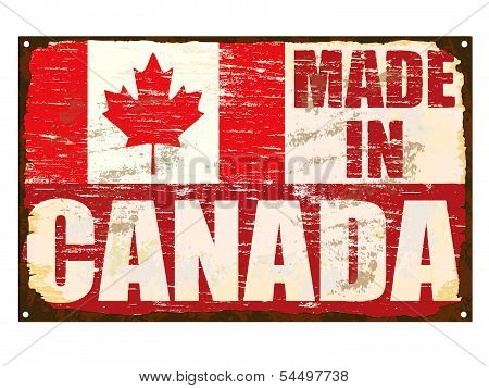 Made In Canada Enamel Sign