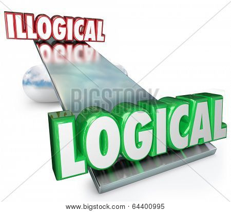 Logical Vs Illogical Words See Saw Balance Weighing Best Answer Soluiton