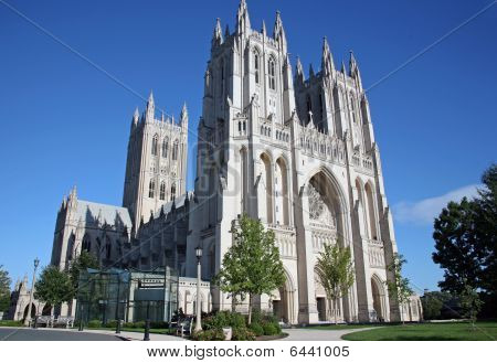 National Cathedral In Washington DC at Sunset