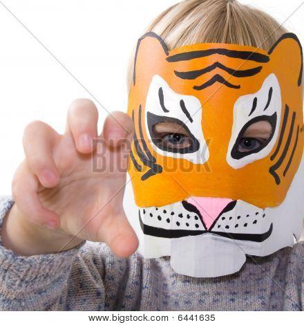 Child Tiger Mask Pretending