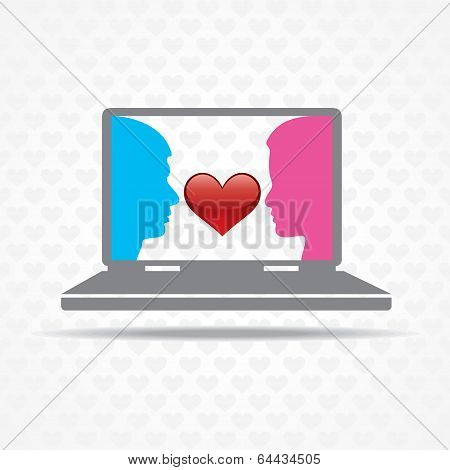 Love by technology concept stock vector