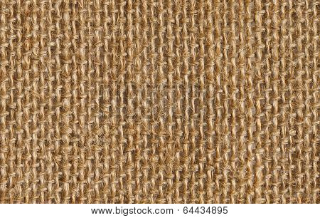 Fabric Texture Background Of Seamless Linen Sacking Cloth, Hessian Sackcloth