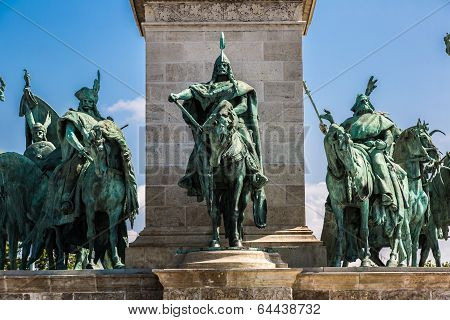 Heroes Square In Budapest,