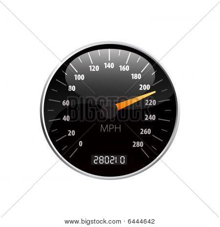 Speedometer vector beautiful illustration