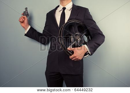 Movie Executive With Gun