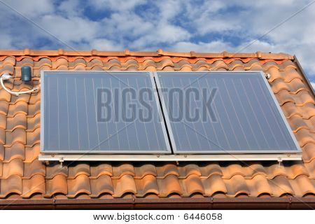solar energy. hot water production