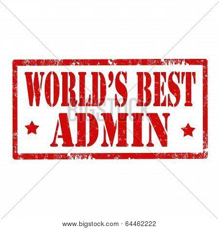 World's Best Admin-stamp