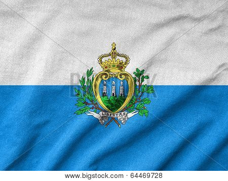 Ruffled San Marino Flag