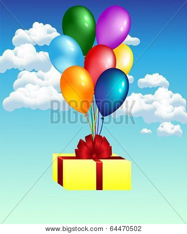 balloons with gift