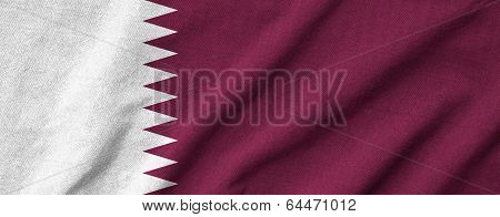 Ruffled Qatar Flag
