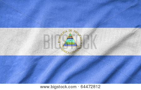 Ruffled Nicaragua Flag