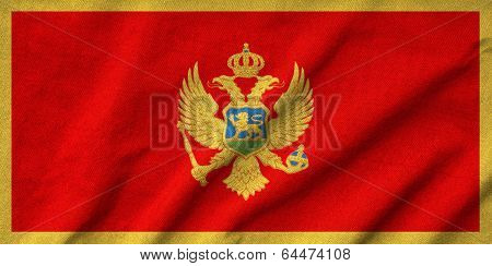 Ruffled Montenegro Flag
