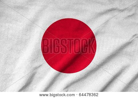 Ruffled Japan Flag