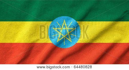 Ruffled Ethiopia Flag