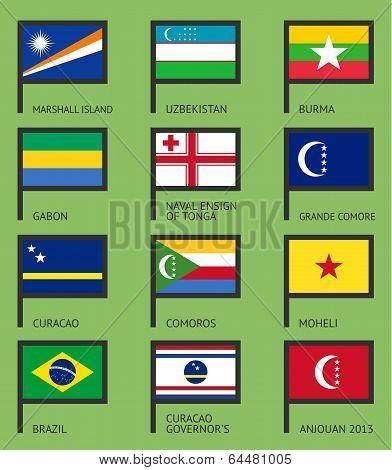Flags flat set-11